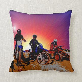 Men's Teen Boy's Motocross Motorbike Riding Throw Pillow