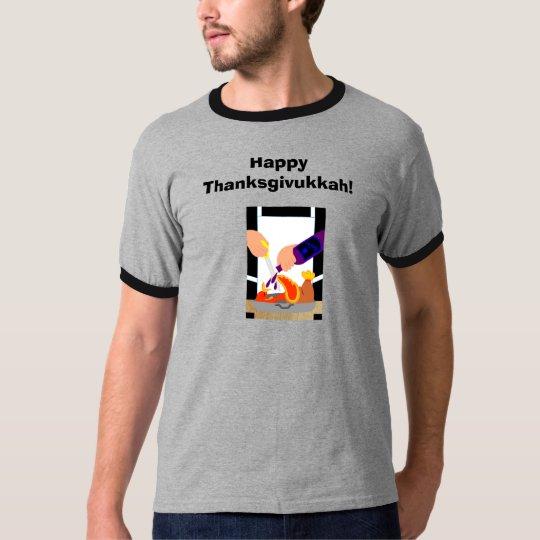 Men's Thanksgivukkah Turkey Kosher Wine  Tshirt