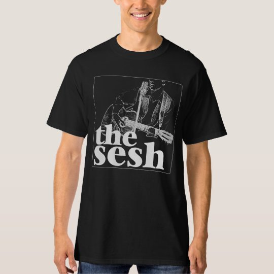 "Men's ""the sesh"" Logo Black T-Shirt"