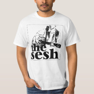 """Men's """"the sesh"""" Logo White T-Shirt"""