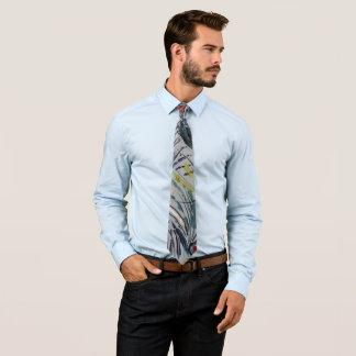 Men's Tie - Basic Color & A Touch Of Gold