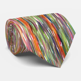 MEN'S TIE/VERTICAL MULTI-COLORED STRIPES TIE