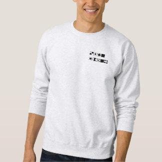 Men's trainer international signal flag pull over sweatshirts