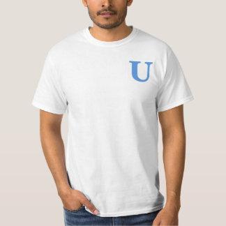 Men's U Logo Tee, Full Logo on Back Tshirt