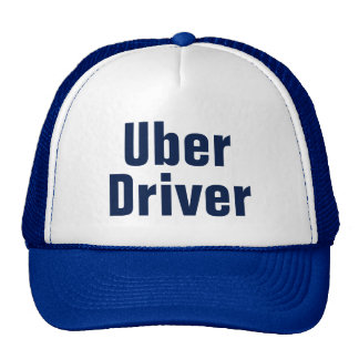 Men's Uber Driver Baseball Cap Blue Trucker Hat