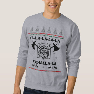 Men's Ugly Sweater - Fa-la-la-la-la Valhalla-la