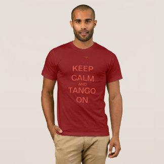 Men's / Unisex Dark Keep Calm and Tango On Tee