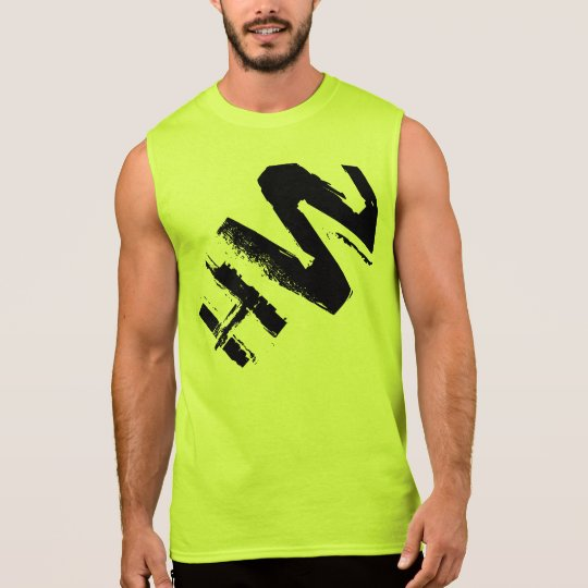Men's / Unisex Safety Green T-shirt w/ Black Logo