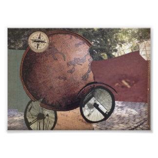 Mens Vehicle Steampunk Whimsical Original Art Photo Art