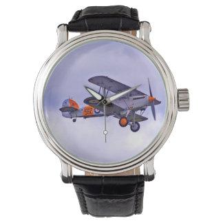 Men's Vintage Airplane Design Watch