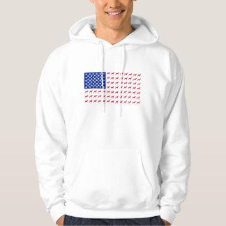 Men's Vizsla American Flag Hoodie