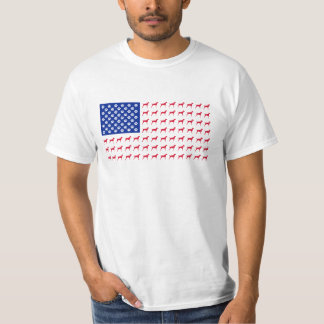 Men's Vizsla American Flag T-Shirt