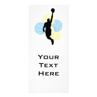 mens volleyball silhouette design rack card design