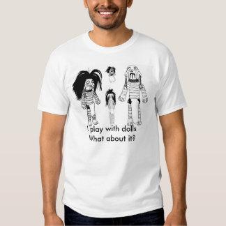 Men's Voodoo Doll Basic T-Shirt, White T-shirt