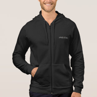 Men's #WEATNU™ Zip Hoodie, Black with URL, back Hoodie
