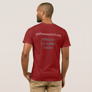 Mens #WellnessWarrior Red Basic Tee
