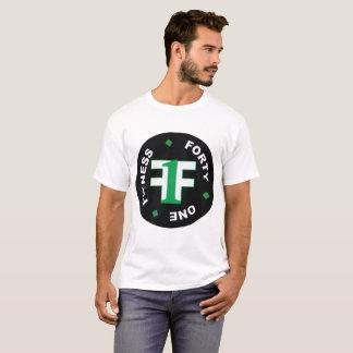 Men's White Fitness Forty One Shirt