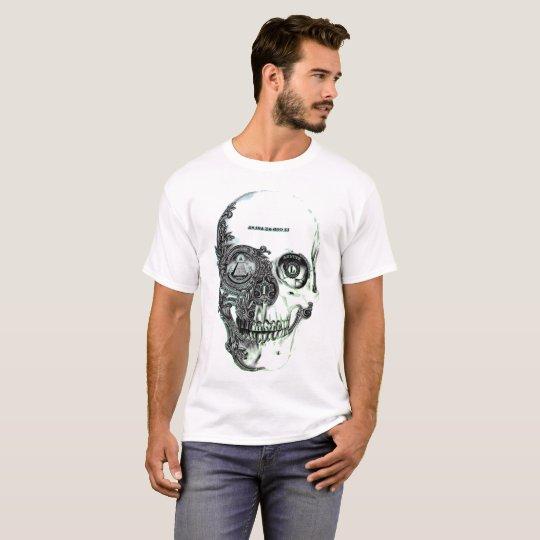 Men's White N.W.O Skull T - Shirt