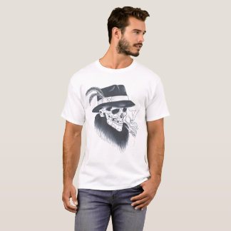 Mens white old skull tee