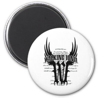 mens white tee design 1 6 cm round magnet