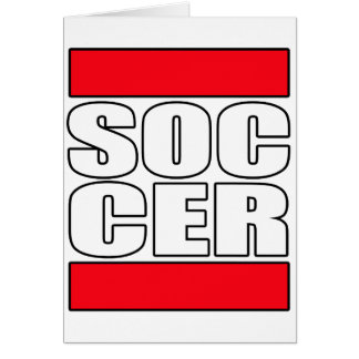 Mens womens boys girls Soccer futbol t shirt tee Greeting Card