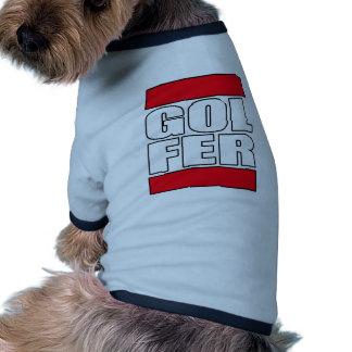 mens womens golf golfer golfing funny golf t shirt dog tee