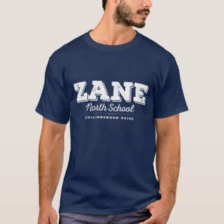 Mens Zane North navy tee