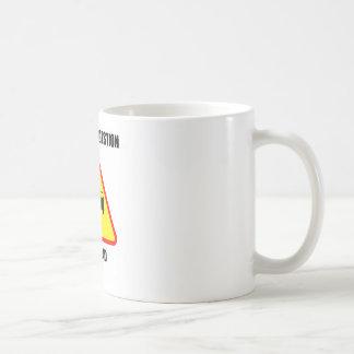 Mental Congestion Up Ahead (Sign Humor) Basic White Mug