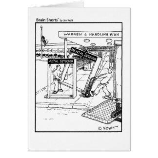 Mental Detector by Jim Kraft Greeting Card