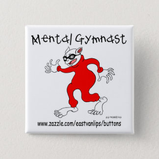 Mental Gymnast 15 Cm Square Badge
