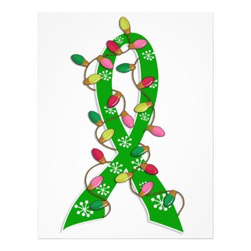 Mental Health Awareness Christmas Lights Ribbon Custom Flyer
