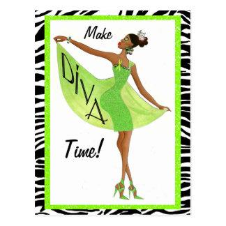 Mental Health Awareness Diva Postcards / Diva Lime