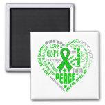 Mental Health Awareness Heart Words Refrigerator Magnet