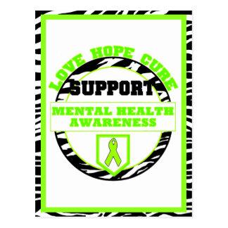 Mental Health Awareness LOVE HOPE CURE Postcards
