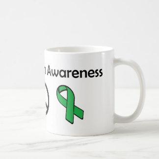 Mental Health Awareness - Love, Peace, Awareness Coffee Mug