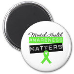 Mental Health Awareness Matters 6 Cm Round Magnet