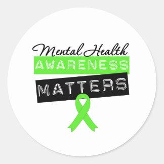 Mental Health Awareness Matters Round Sticker
