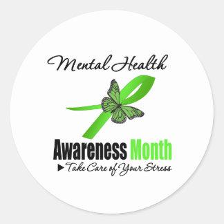 Mental Health Awareness Month Round Sticker