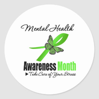 Mental Health Awareness Month Round Stickers