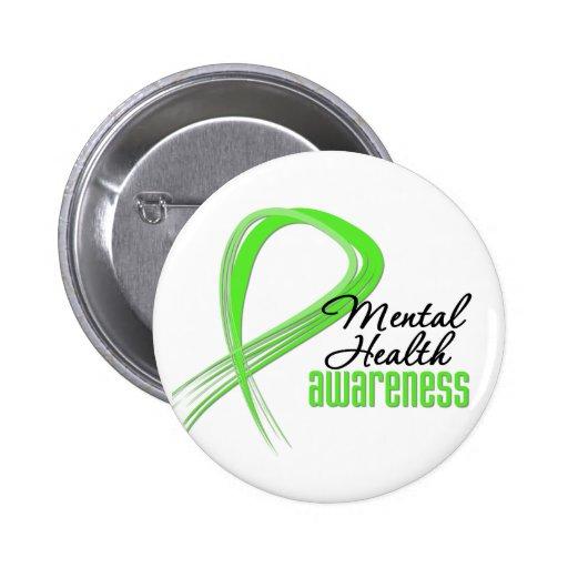 Mental Health Awareness Ribbon Button