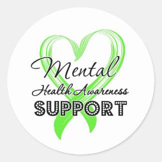Mental Health Awareness - Support Round Sticker
