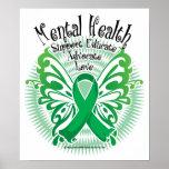 Mental Health Butterfly 3 Print