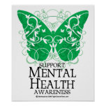 Mental Health Butterfly Poster