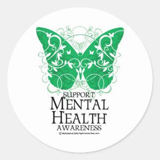 Mental Health Butterfly Sticker