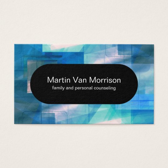 Mental Health Counsellor Modern Design Business Card