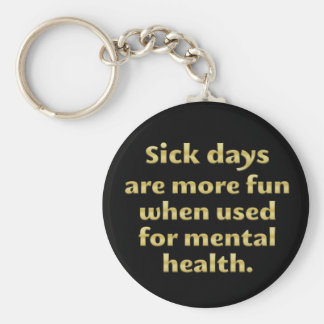 Mental Health Day (sq) Key Ring