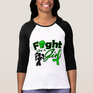 Mental Health Fight Like A Girl Silhouette Tshirts