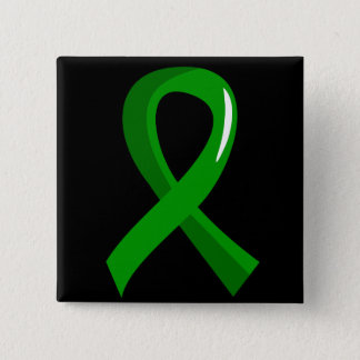 Mental Health Green Ribbon 3 15 Cm Square Badge