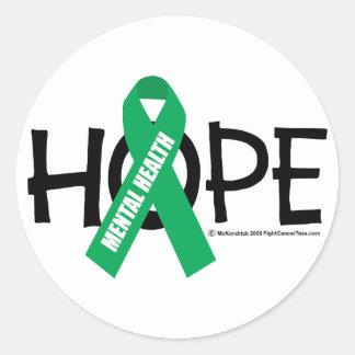 Mental Health Hope Round Sticker