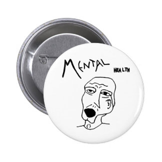 Mental Health Logo 6 Cm Round Badge